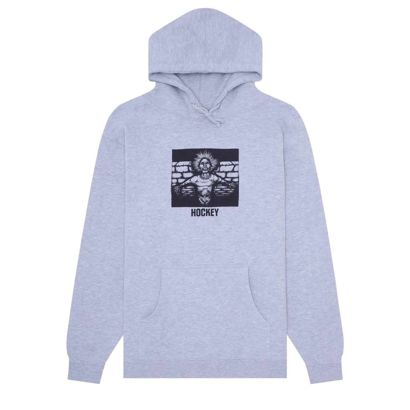 Hockey Nik Stain Crippling Hooded sweatshirt grey heather