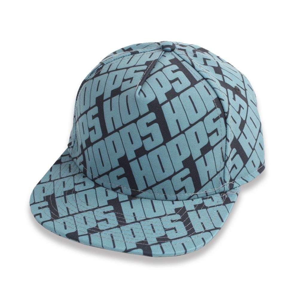 Hopps All Over Snapback Black Blue