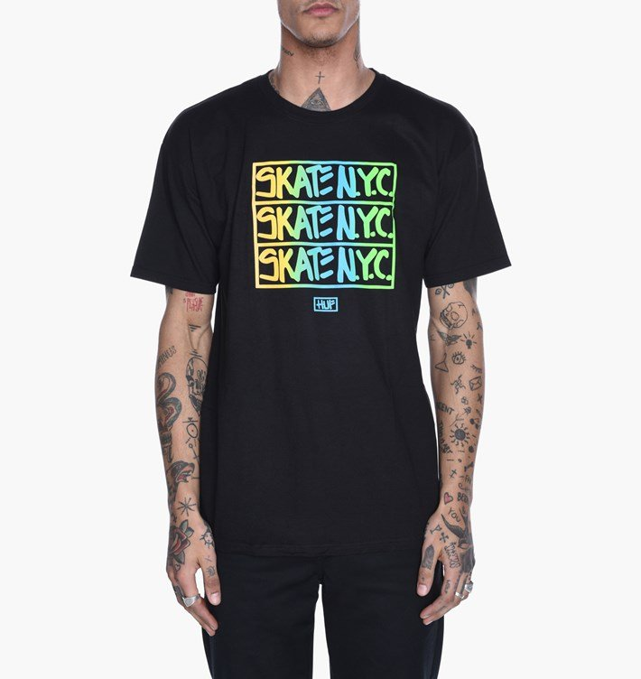 HUF X Skate NYC s/s t shirt Black