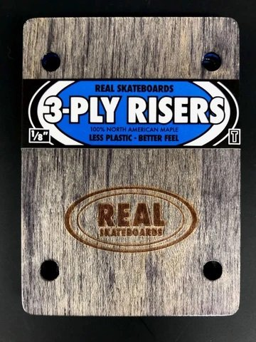 Real 3 Ply riser pads wooden Fits Thunder set of 2