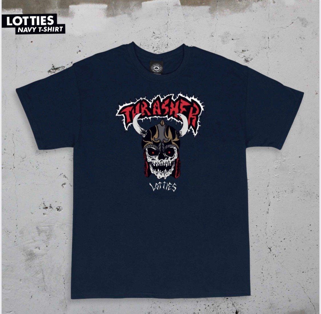 Thrasher x Lotties s/s t shirt navy