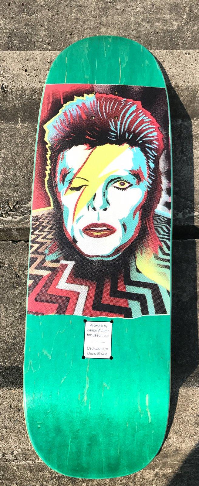 Prime Wood Jason Lee Jason Adams Bowie shaped green 9.5 x 31.5