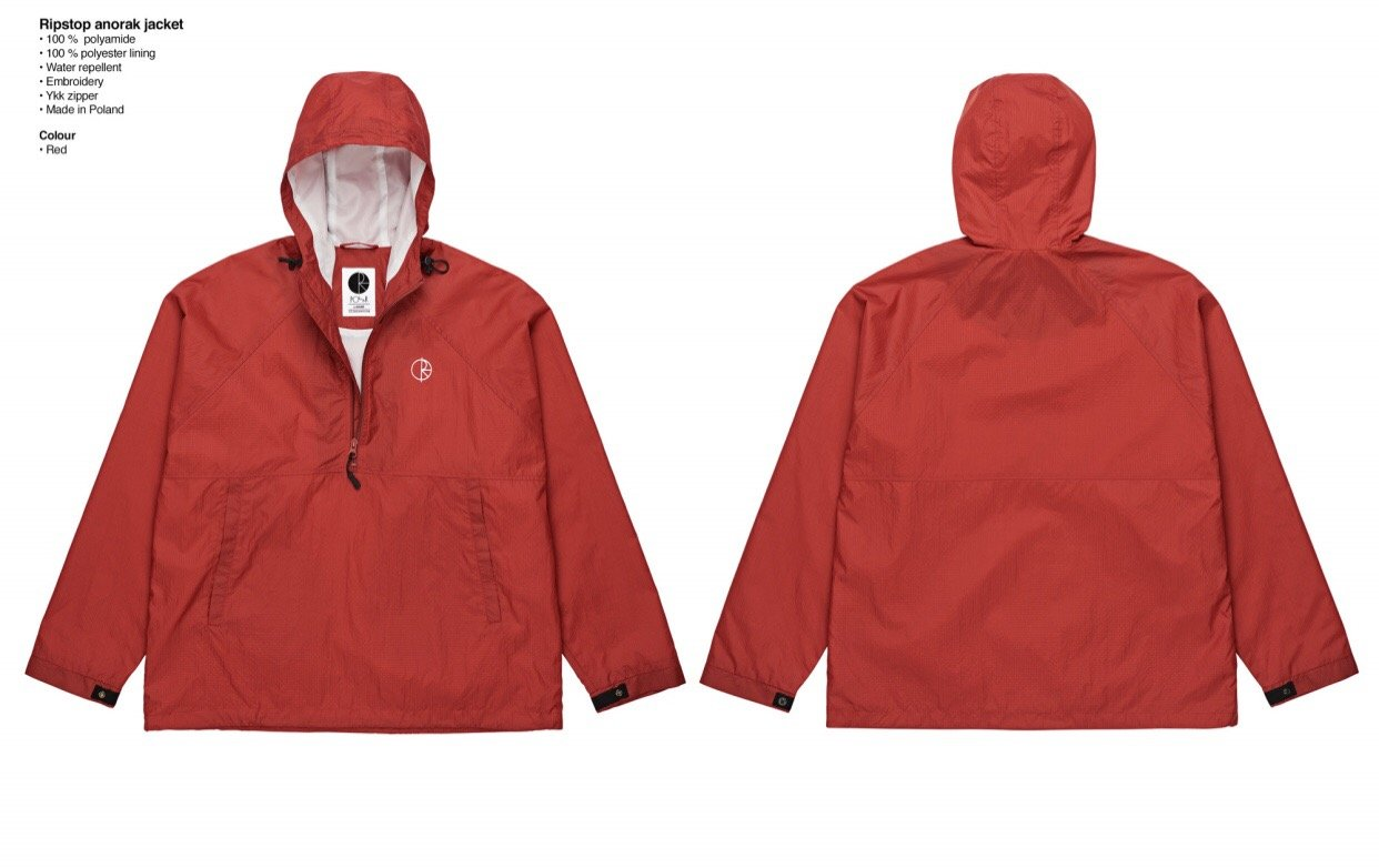 Polar Skate Co Ripstop Anorak red