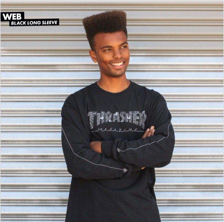 Thrasher Web Logo Longsleeve t shirt black
