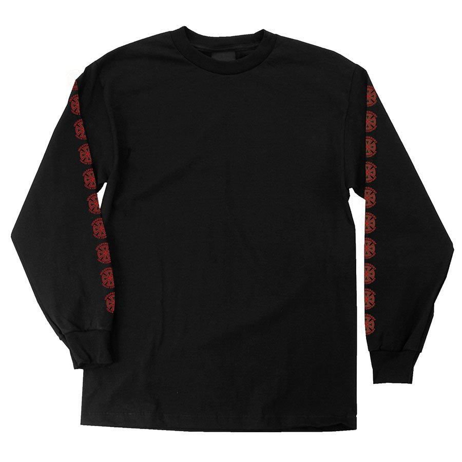 Independent Banhaus Cross L/S Black/ Red