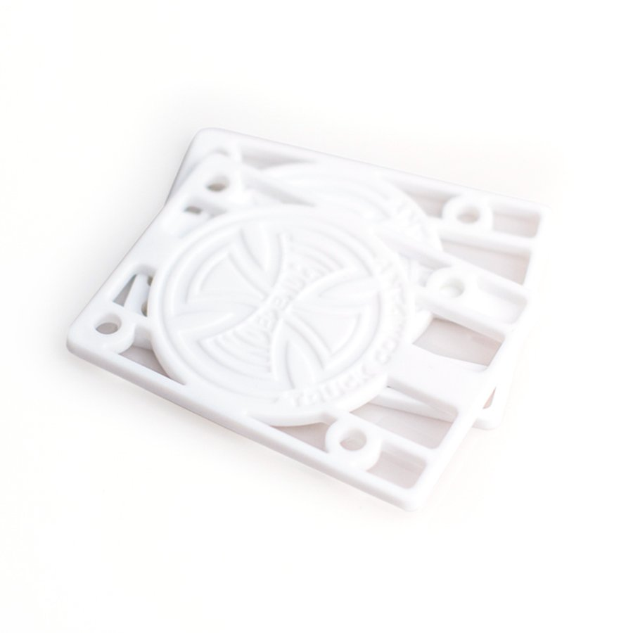Independent 1/8 Inch Risers white (set of 2)