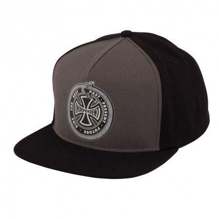 Independent Past-Present-Future Snapback Hat Grey/Black
