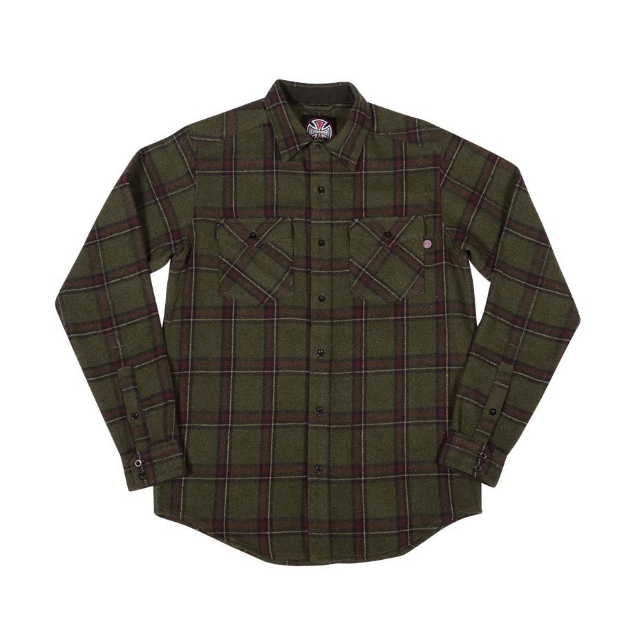 Independent Chainsaw L/S Flannel Olive