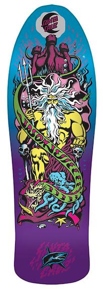 Santa Cruz Jason Jessee Neptune Purple fade 10.14 x 31.59