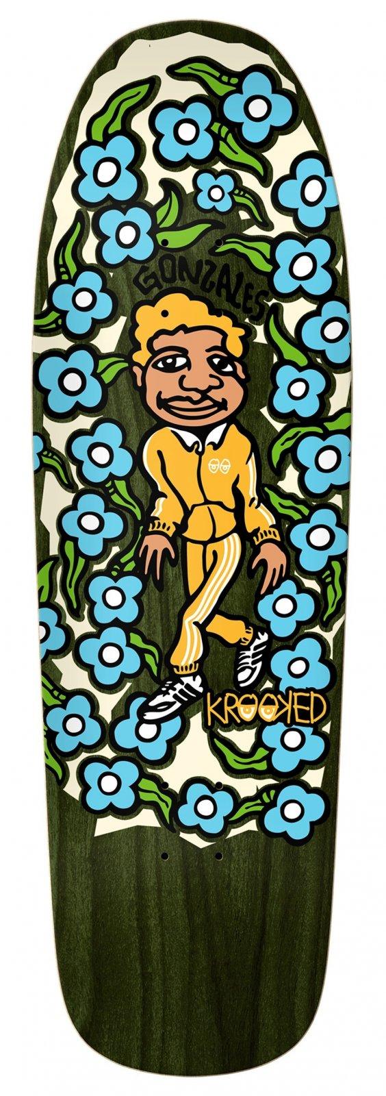 Krooked Gonz SweatPants yellow/blue 9.81 x 32