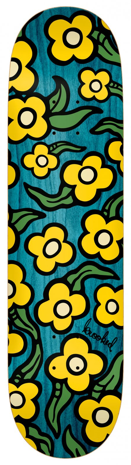 Krooked Wildstyle Flowers Assorted Stains 7.75 x 31.25
