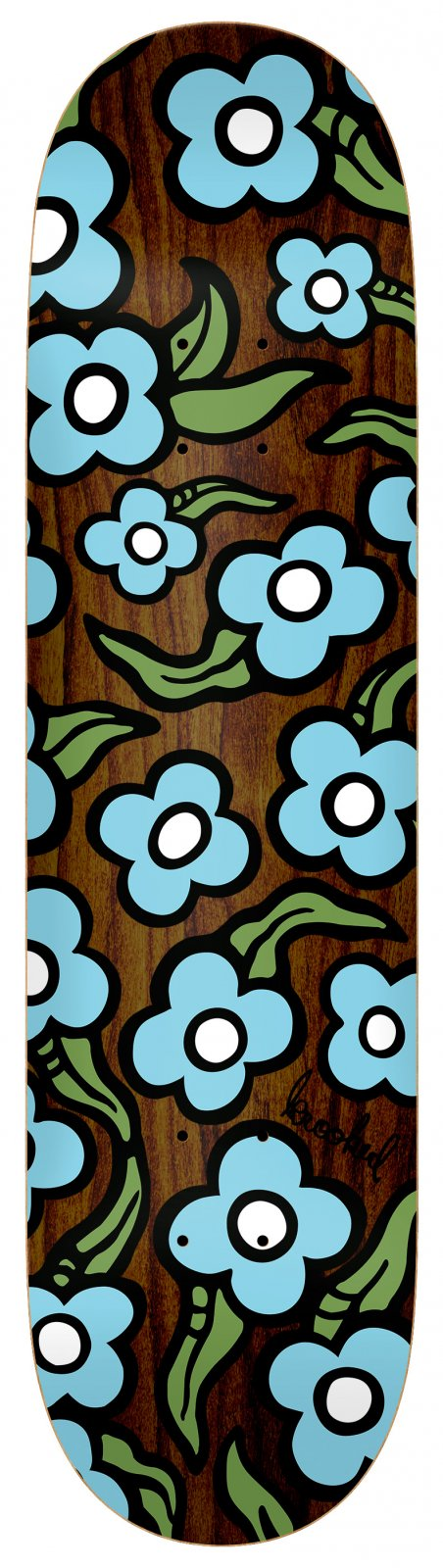 Krooked Team Wildstyle Flowers Assorted stains 8.5 x 31.8