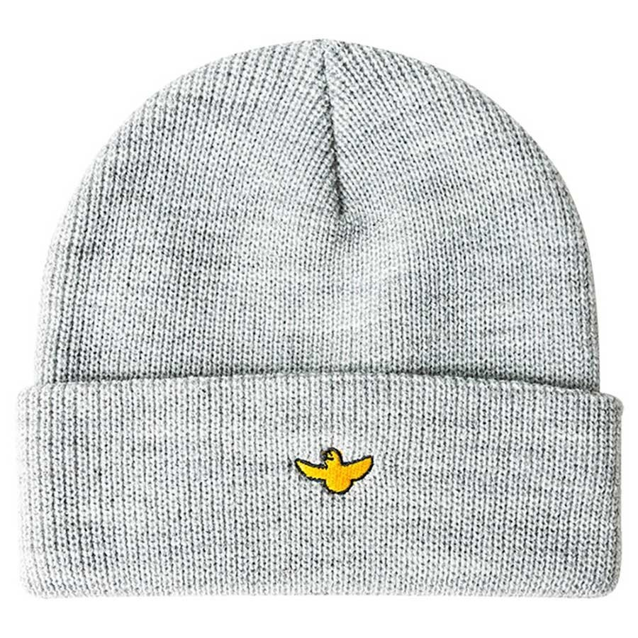 Krooked Bird Cuff Beanie Heather Grey