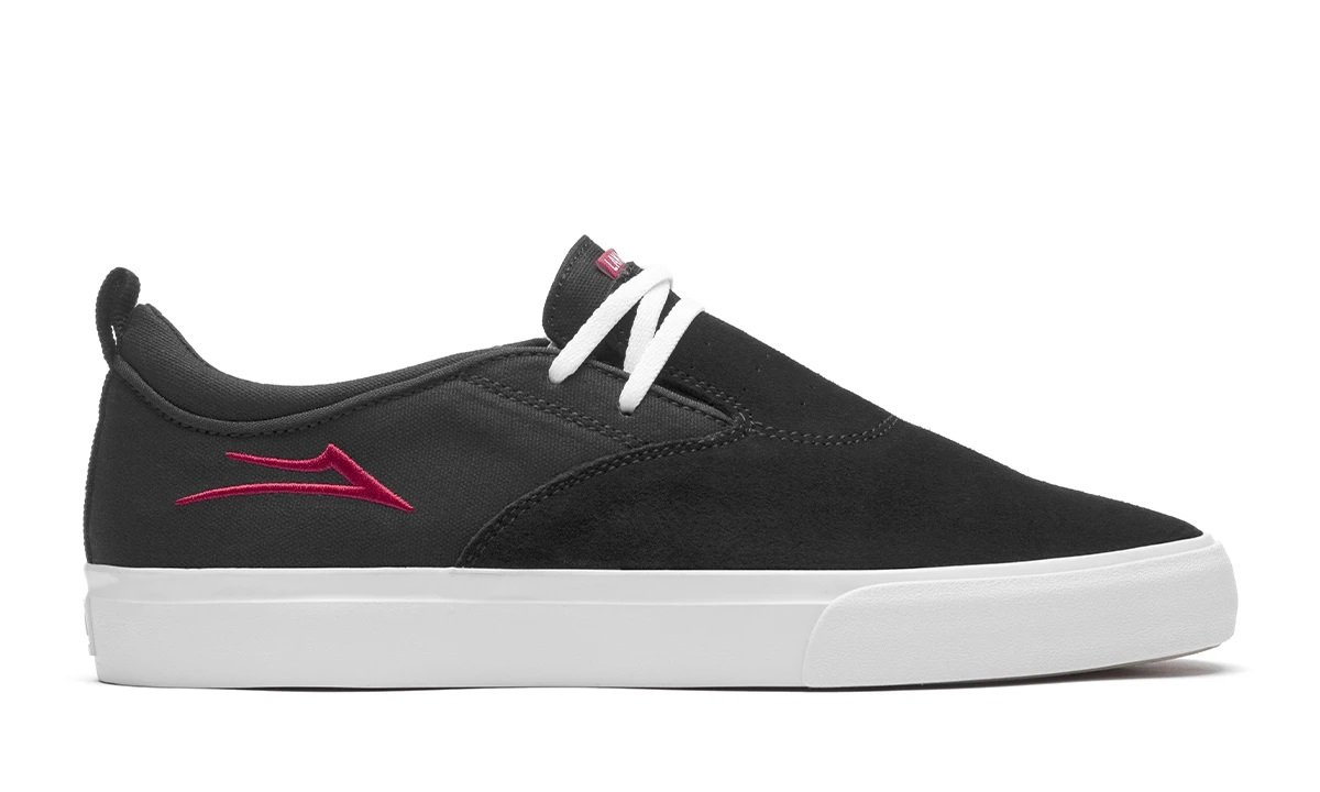 Lakai Riley 2 Black Red Suede