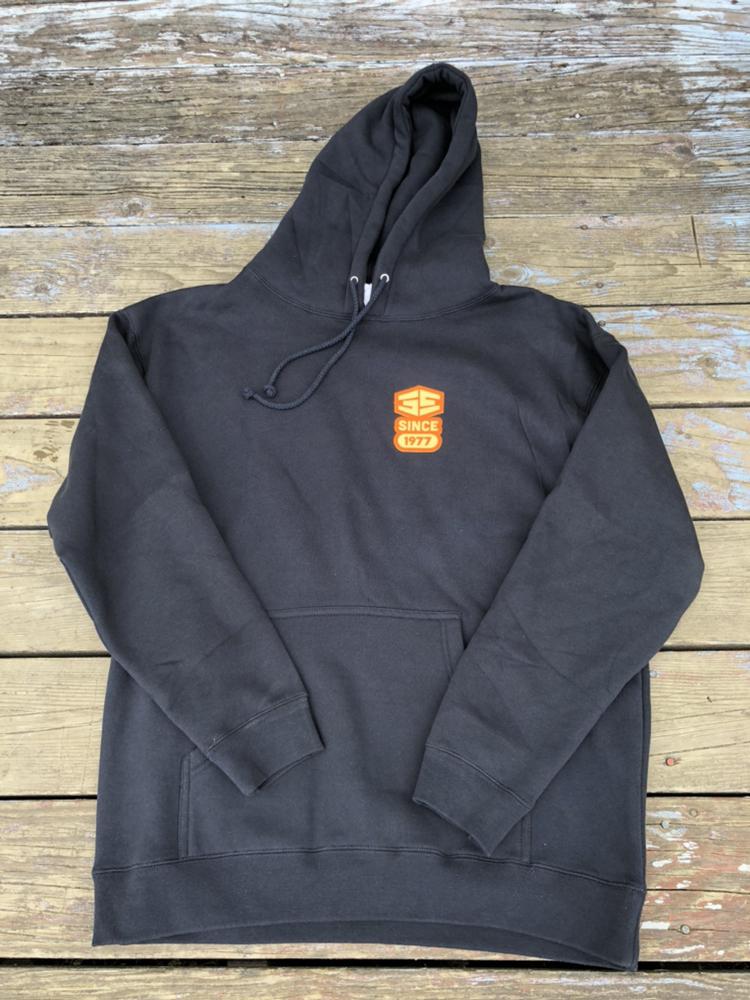 35th Manhole Hooded Sweatshirt Navy with Orange/Cream