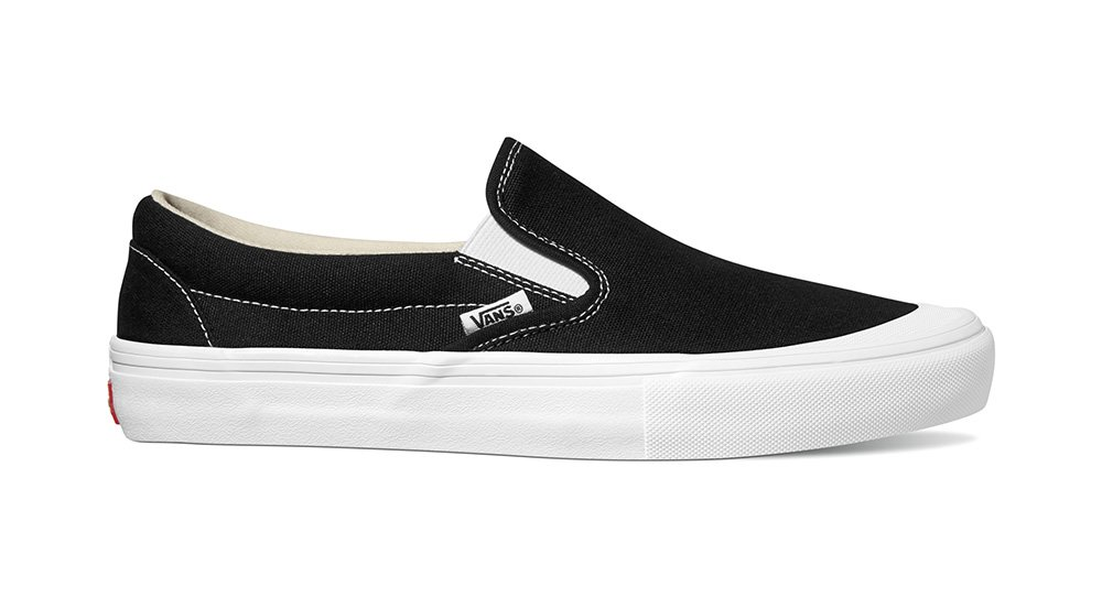Vans Slip On Pro toe cap black/white canvas