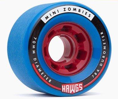 Landyachtz Hawgs Mini Zombies 70mm 78a blue set of 4