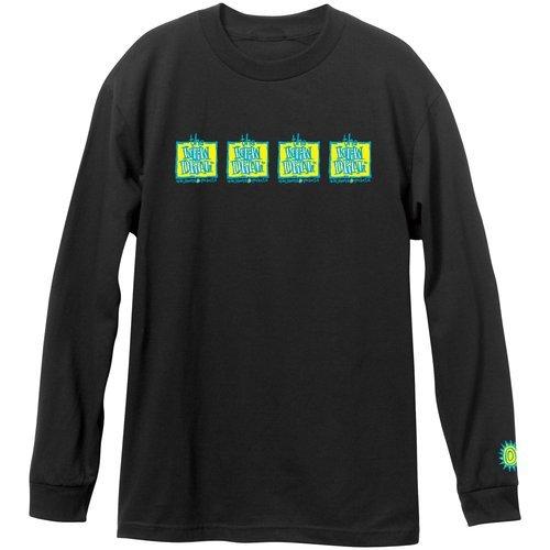 New Deal Original 4 bar Napkin Logo l/s t shirt Black