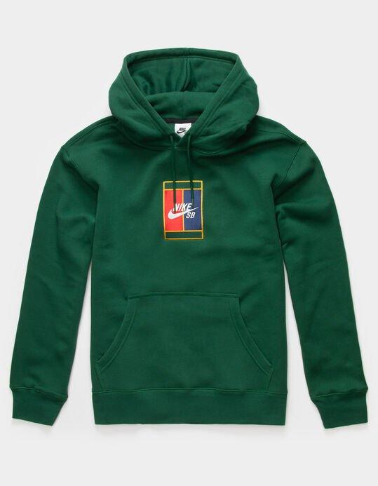 Nike Sb Gfx Hooded Sweatshirt Green/Midnighy Navy