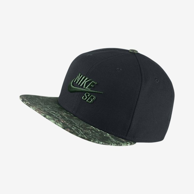 0d81045a48f2 Nike SB Icon Snapback Black Black Gorge Green
