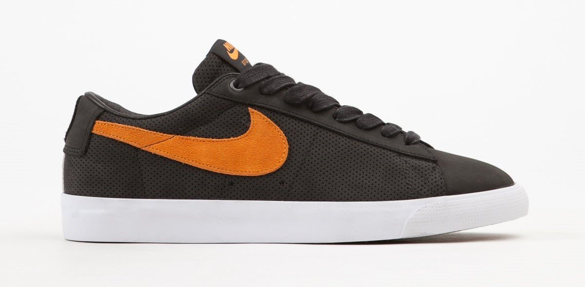 f97b6b72ce22 Nike SB Blazer Low GT QS Black Vivid Orange