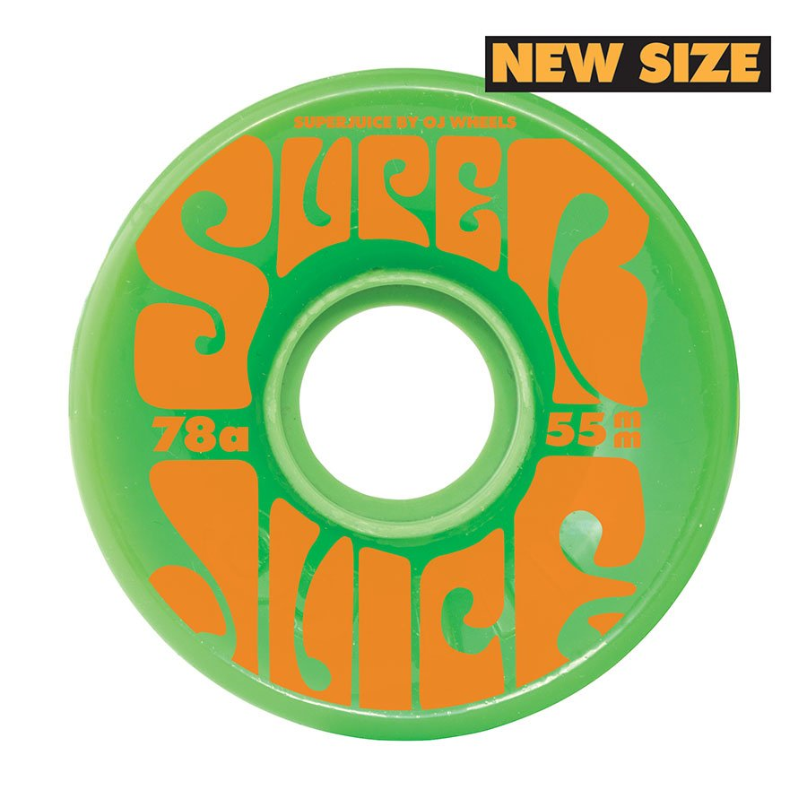 OJ Skateboard Wheels 55mm Mini Super Juice 78a green
