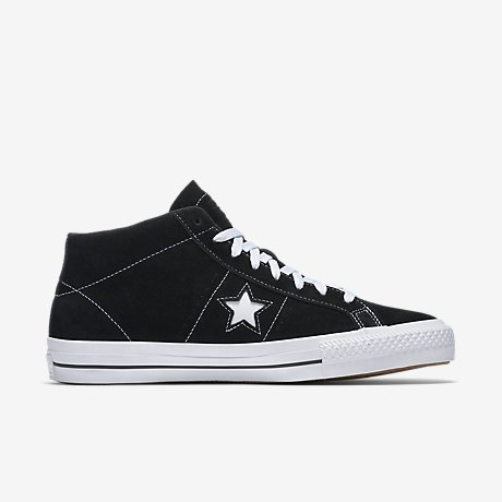 Cons One Star Pro Suede Mid Black / White