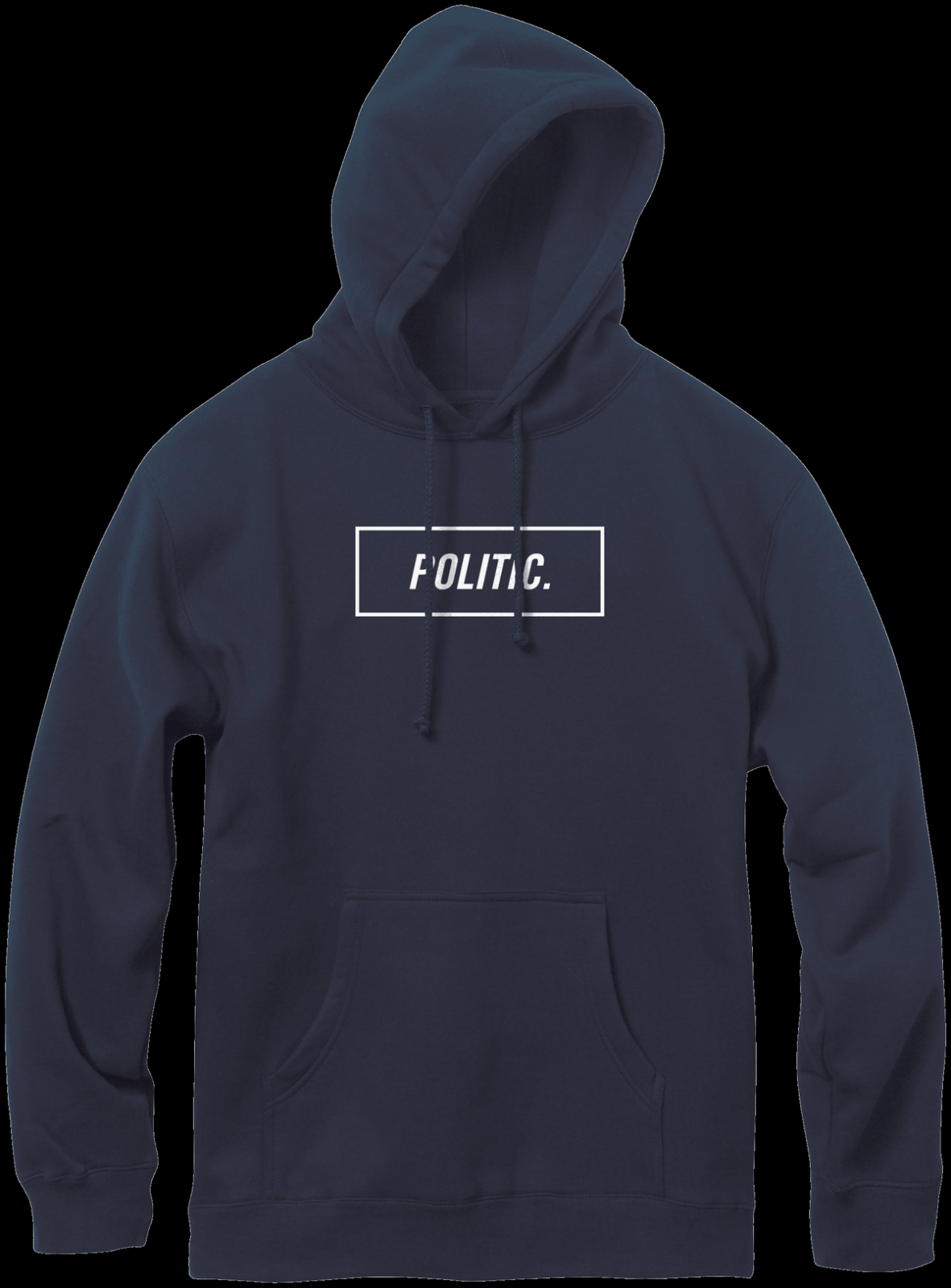 Politic Box Logo Pull Hood Navy