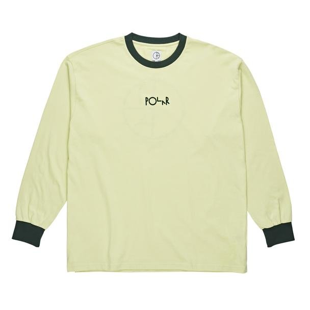 Polar Skate Co Offside l/s t shirt Seafome Green/Dark Green