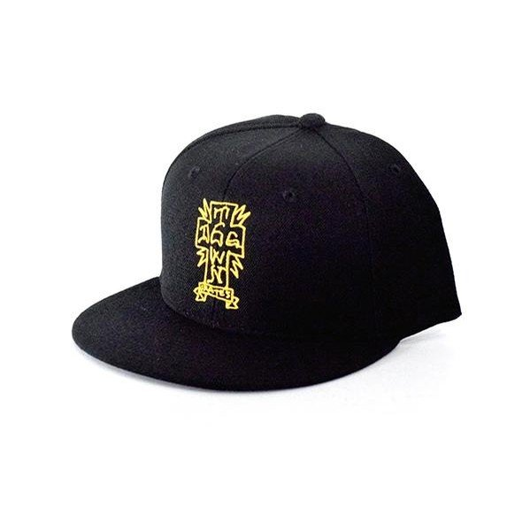 Dogtown Snapback Cross Letters Gonz Black/ Yellow