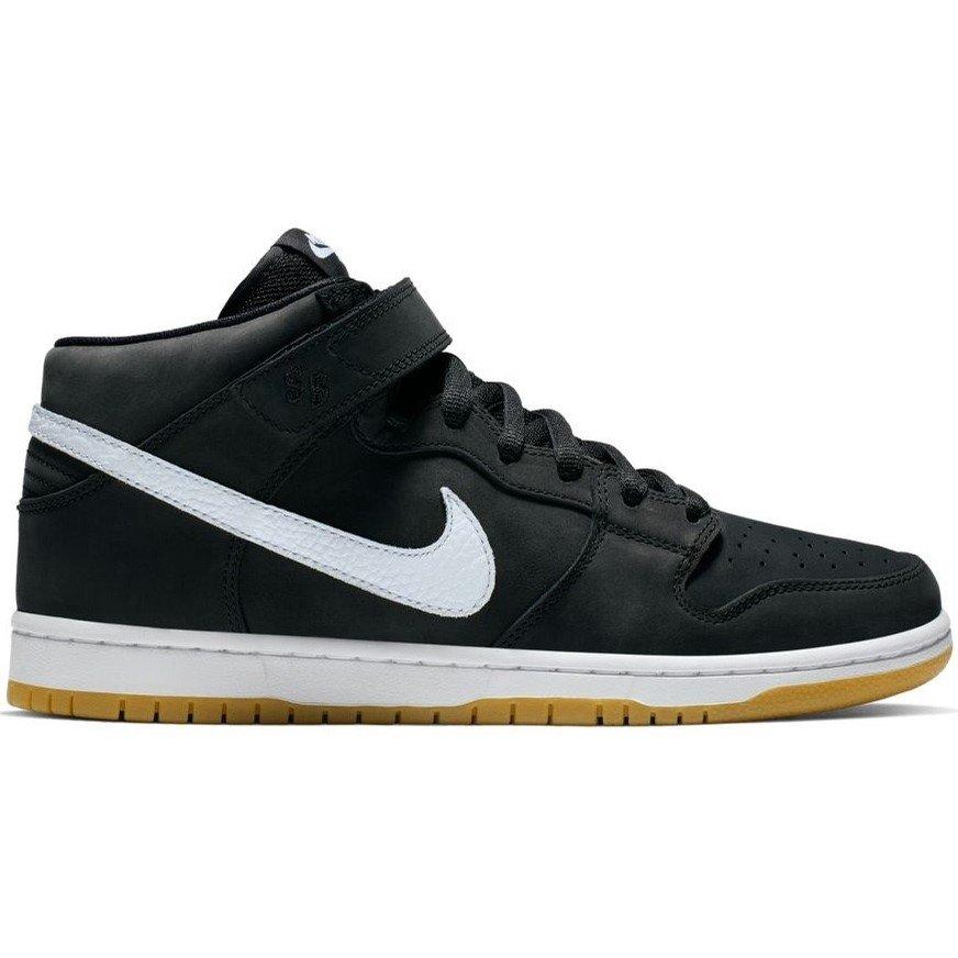 cheaper look out for sleek Nike SB Dunk Mid ISO Black/White-Black (ORANGE LABEL)