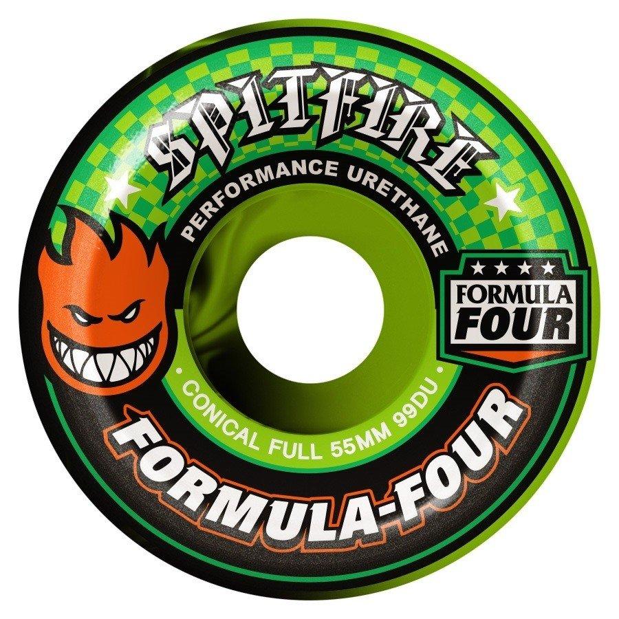 Spitfire Formula Four Conical Full Swirl green/black 53mm 99a
