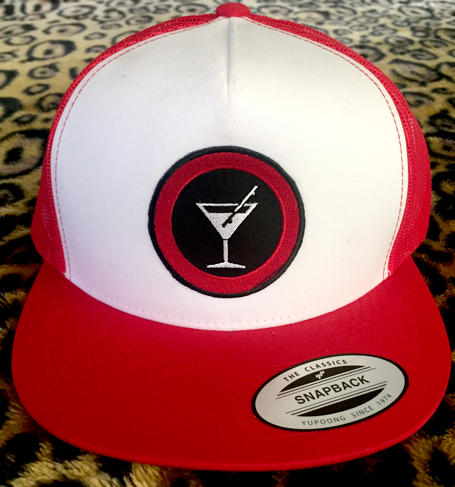 Slappy Hour Trucker hat red/white