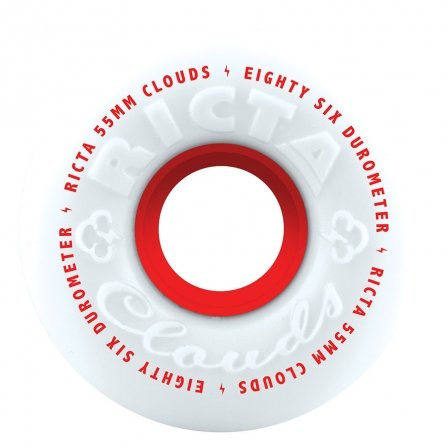 Ricta 55mm 86a Clouds White/Red Core
