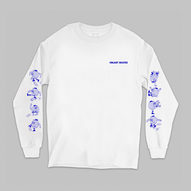 Blast Skates Stuntz L/S T-Shirt - White