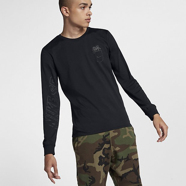Nike SB Dry Lion Long Sleeve shirt black