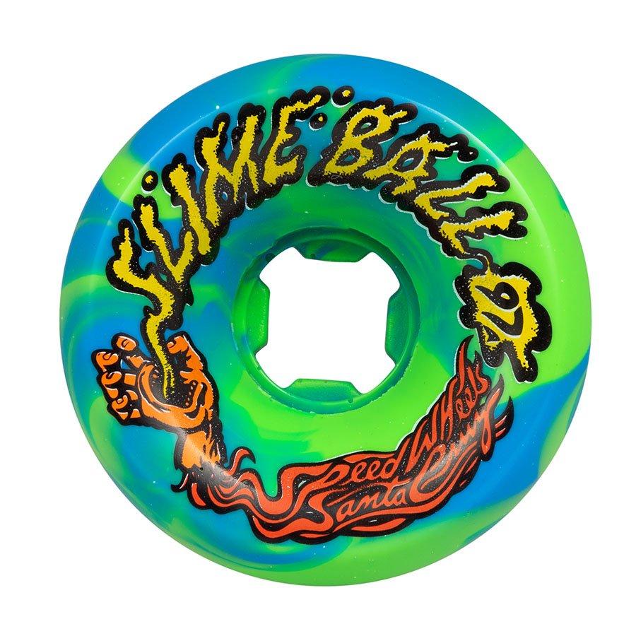 Slime Balls 60mm 97a Vomits Blue/Green Swirl