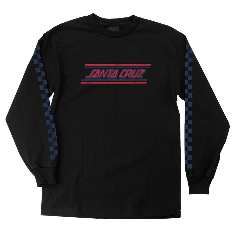 Santa Cruz Check Strip Hue l/s t shirt black