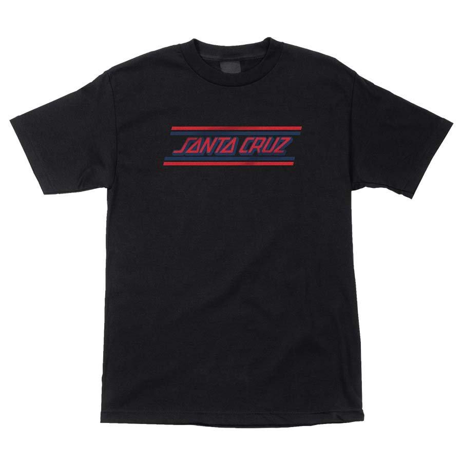 Santa Cruz Check Strip Hue s/s t shirt black