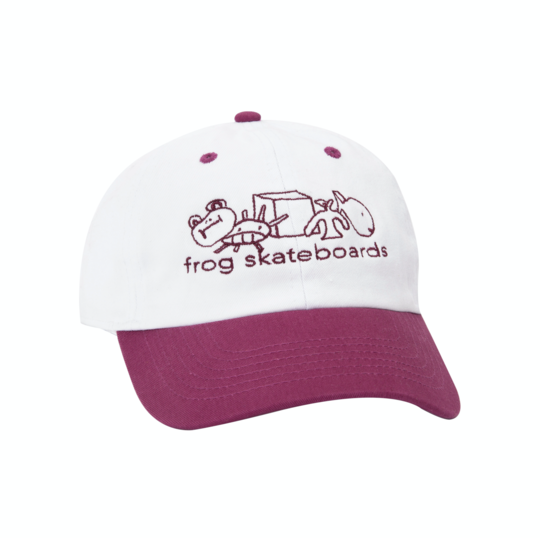 Frog Block Logo Hat Cherry