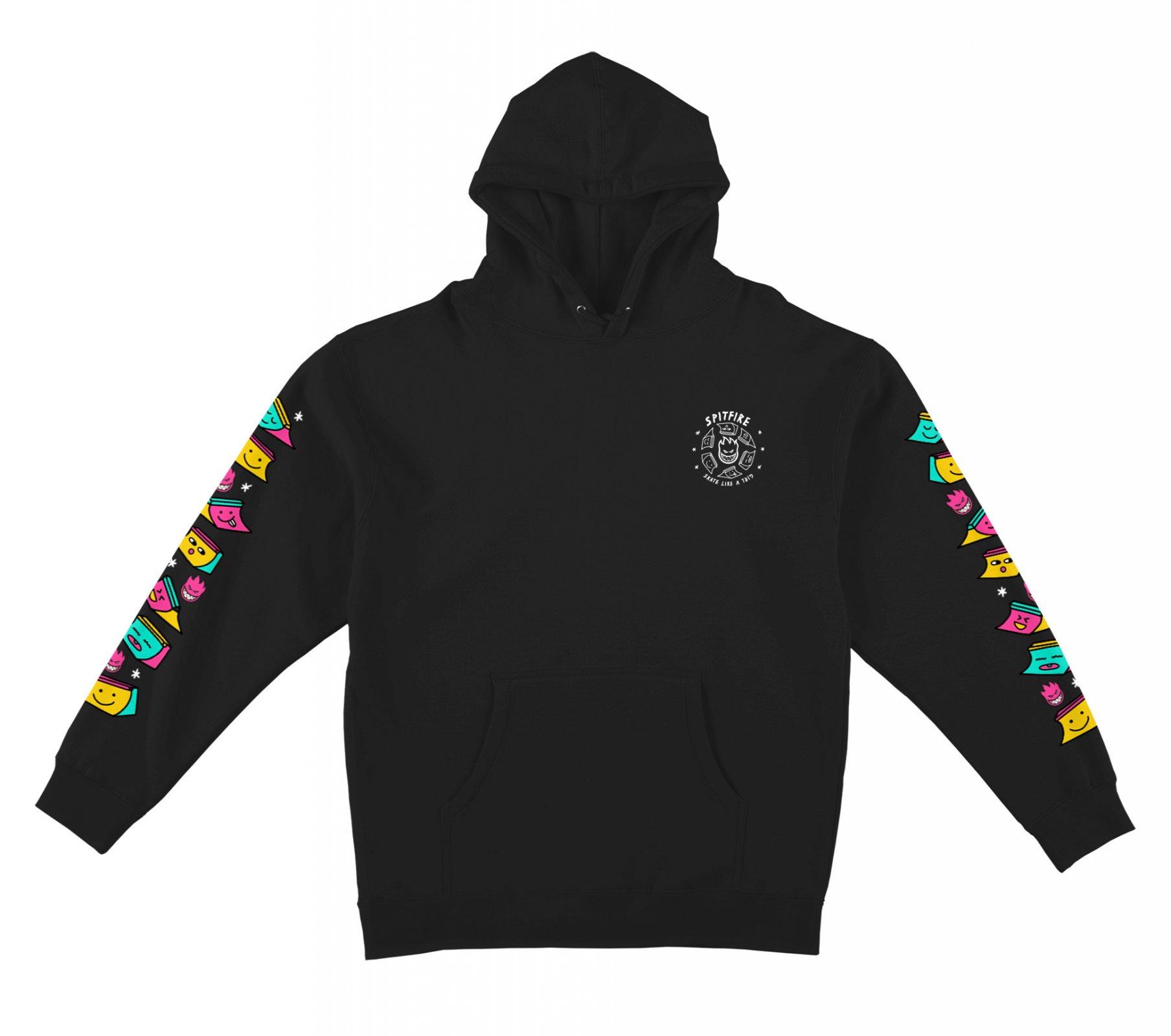 Spitfire Skate Like A girl Sleeve Hooded Sweatshirt black/multi