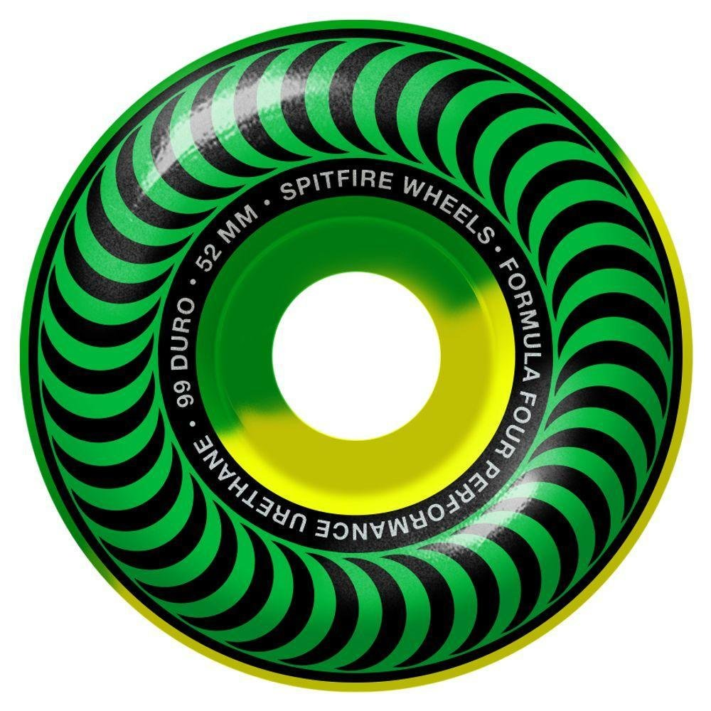Spitfire Formula Four Classic green/yellow 5050 52mm 99a