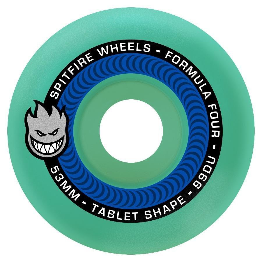 Spitfire Formula Four Tablet Ice Blue 54mm 99a