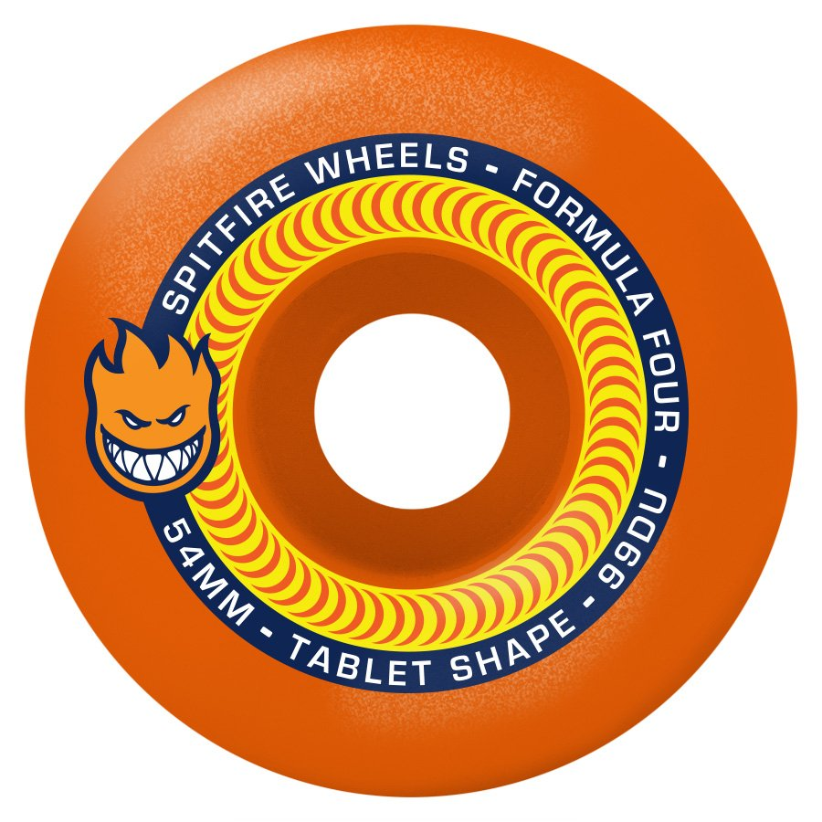Spitfire Formula Four Tablet Orange 54mm 99a