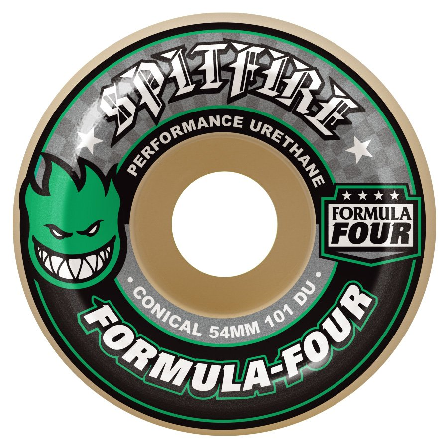Spitfire Formula Four Conical Green Print 53mm 101a