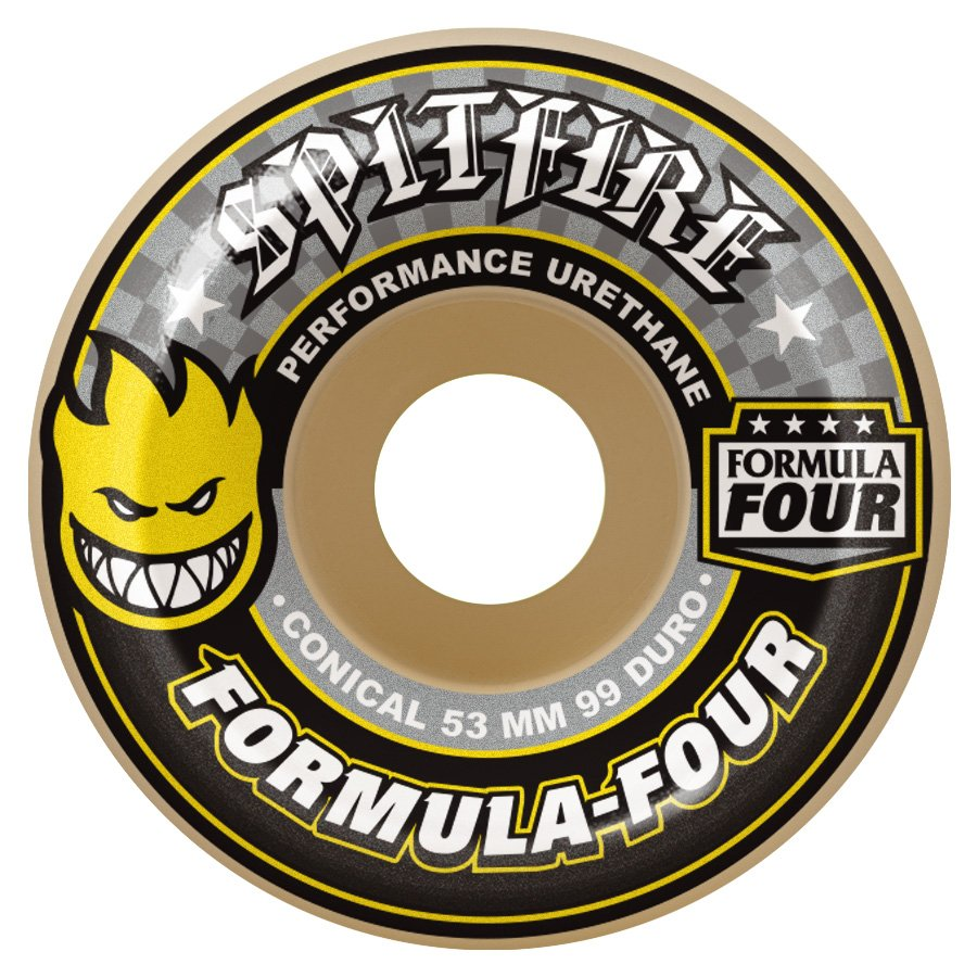 Spitfire Formula Four Conical Yellow Print 54mm 99a