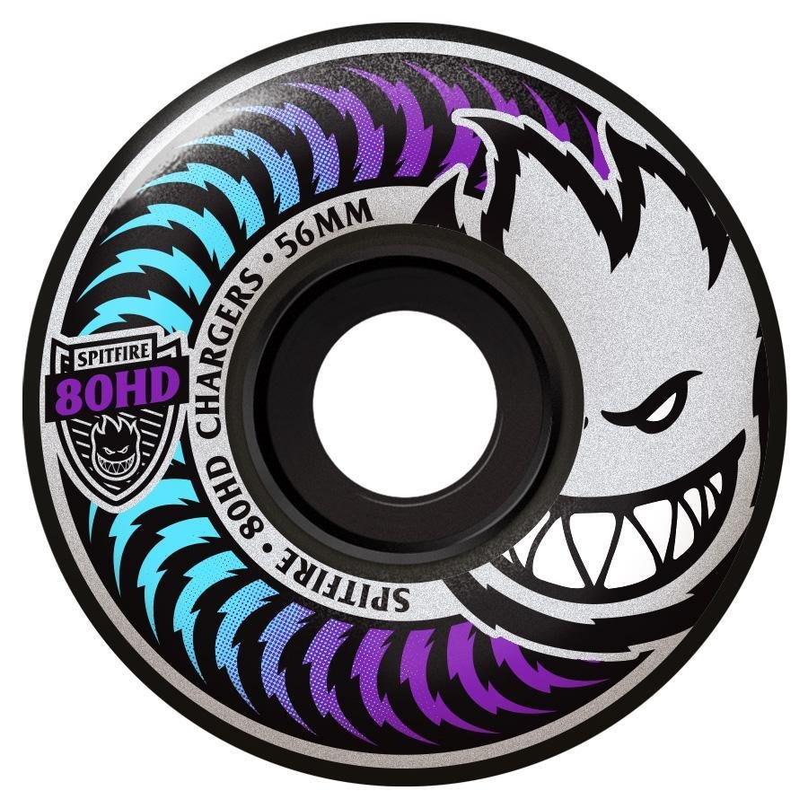 Spitfire 80HD Charger Classic Icy Fade black 56mm
