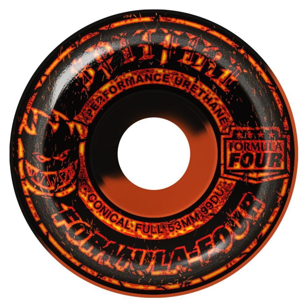 Spitfire Formula Four Conical Full Embers orange/black 53mm 99a