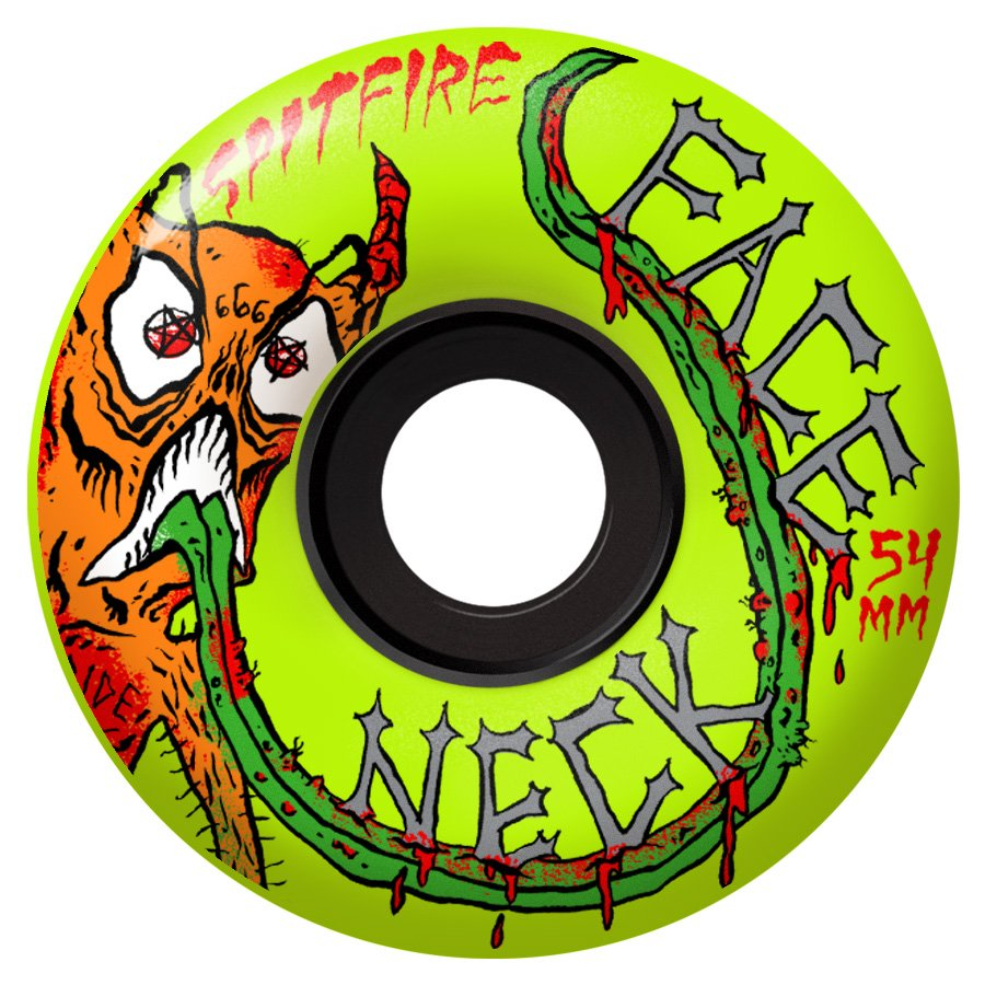 Spitfire 80hd Charger Classic Neckface Neon Yellow 54mm