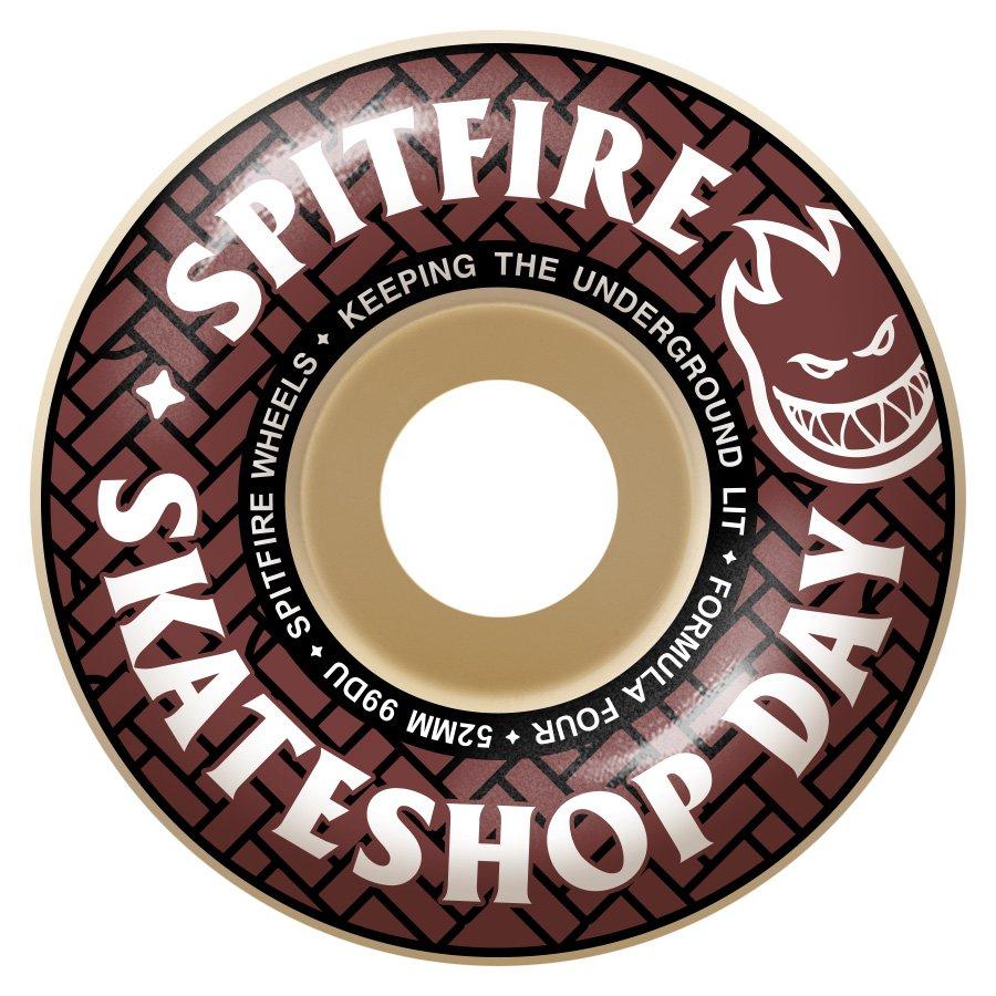 Spitfire Formula Four Classic Skateshop Day 52mm 99a